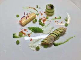 春野菜で包んだ三種の魚貝類