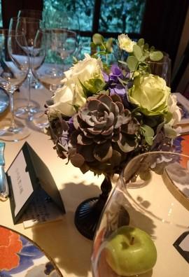 8-28 mariage table fleur