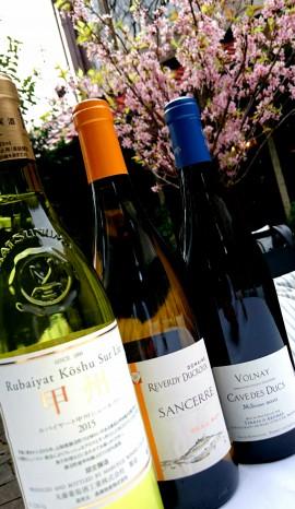 桜とワイン