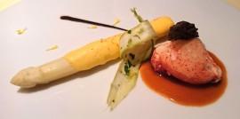 asperge blanche homard morille